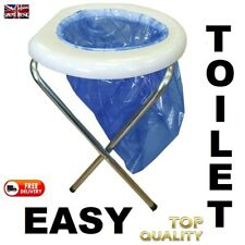 HOME - OUTDOOR CAMPING EASY FOLDING TOILET SEAT PORTA POTI FOR SELF BUILD CAMPER