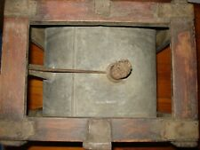 ANTIQUE ROCKER CAN PRIMITIVE WATER DISPENSER(OIL CAN ) RARE IN WOOD FRAME 1900