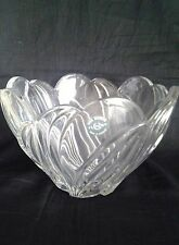 "Lenox Crystal Bowl 8"" Arctic Bloom Nib 8""Across X 5 1/4"" High - Beautiful Gift"