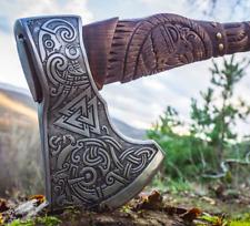 "Scandinavian Tactical Custom Ethnic Premium Viking Axe Hand Forged  ""Odin"""