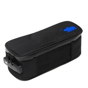 Cali Crusher Soft Bag 100% Smell Proof Soft Case W/Combo Lock black and blue