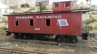 Roundhouse MDC HO Old Time Caboose, Wabash, Upgraded, Exc.
