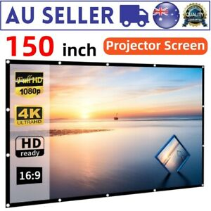 """NEW CLEARANCE 150"""" 16:9 Projector Screen Home Cinema Outdoor Movie Projection"""