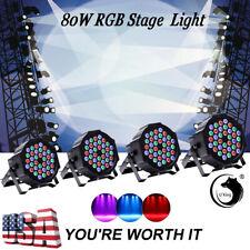 U`king 4PCS 80W RGB 36LED Par Stage Lighting DMX Color Mixing Wedding Party Club