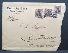 Banco alemán Frankfurt ultramar carta estados unidos Germania 50 50 40 PF. 1920 (Lot 5493