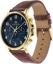Tommy Hilfiger Original 1710380 Men's Brown Leather Watch 38mm