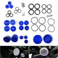 1 Set Blau Cap Cover Rahmen Stopfen Aluminum passt BMW R1200GS LC ADV 2014-19 AR