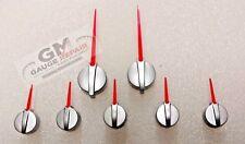 Satin Hub Red Pointer Gauge Needles 2003 to 2006 GM Silverado Sierra Tahoe 7 pc