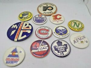 Vintage NHL Hockey Collector - Pin Pinback - 12 piece LOT Jets Kings Blues