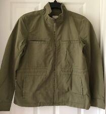J Crew Factory Cotton pocket jacket G1506 Olive Green Standing Collar L Large