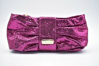 VICTORIA'S SECRET Pink Glitter Bling Wristlet Clutch Makeup Evening Bag Bling