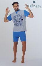 Night & Co.short Pajama, Man 100% Cotton. Art. 3555 Limbo. Mod. Seraph