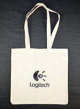 "Gemline ""LOGITECH""  Advertising Canvas Tote Bag Cotton (Beige) 14.3 in. x 14 in."