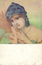 KIRCHNER PC, ARTIST SIGNED, LA GLANEUSE, ART NOUVEAU, P4-1 (b2318)