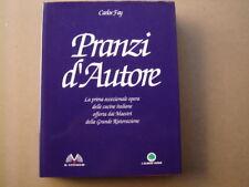 libro di cucina book Cook livre PRANZI D AUTORE CARLOS FAY CUCINA ITALIANA