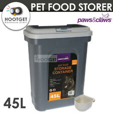 [45L ExLarge] Pet Brid Puppy Dog Cat Food Storage Container Scoop Dispenser