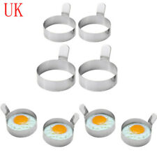 2 Stainless Steel Omelet Mold Non Stick Pancake Ring Frying Egg Cooking Tool 9cm