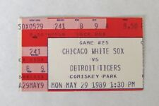 1989 CHICAGO WHITE SOX V DETROIT TIGERS TICKET STUB 5-29 OLD COMISKEY PARK