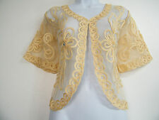 FAB  LACY LACE SHRUG JACKET 2 COLOURS  BRAND NEW SIZE 12 14 16 18 20 22