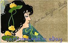 Art Nouveau - Mucha Style - Beautiful Woman, Belle Femme - L133 - Rifilata (?)