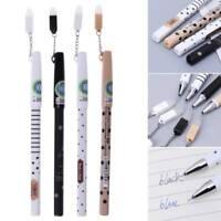 Cute Kawaii 0.5mm Plastic Erasable Korean Gel Pen Stationery With Eraser Pendant