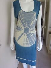 WOMEN'S NEXT BLUE AND CREAM TIE DYED TUNIC - BEACH DRESS size 10