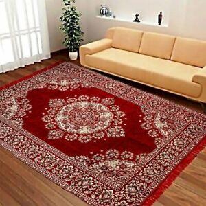 5 x 6 Ft  Multicolor Floral Carpet Of Chenille For Home Decor, Rectangular Shape