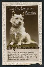 Posted 1929: Halfpence Green Postal Union Congress Stamp: Birthday: Son: Dog