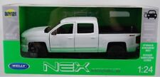 Chevrolet Silverado, white , Welly 1/24 Metal Model Car