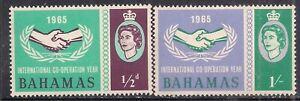 Bahamas 1965 QE2 Set Inter. C'wealth Co Operation Year Umm SG 265-266 ( AA125 )