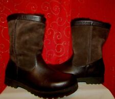 NEW UGG RIVERTON 3296 CHOCOLATE SHEEPSKIN LINED SUEDE/LEATHER LUG SOLE BOOT SZ 5