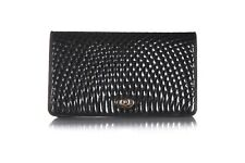 BALLY Black Clutch Shoulder Bag Chain Strap Quilted Purse Crossbody