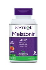Natrol Melatonin Sleep Fast Dissolve Strawberry Flavor 5mg 150 Tablets