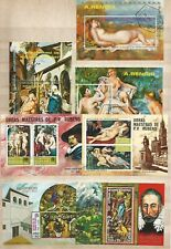Thematic  Selection of Art and Artists on Miniature Sheets