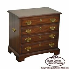 Henkel Harris Solid Walnut Chippendale Style Accent or Silver Chest