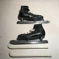 Vintage Nestor-Johnson Ice Skates with Blade Covers