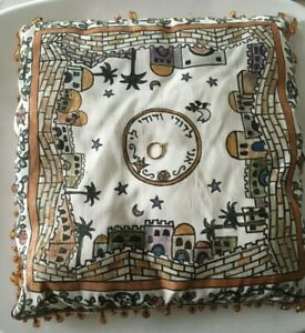 Jewish Wedding Ceremony Hand PaintedJerusalem Silk Ring Bearer Pillow