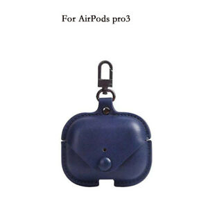 For Apple Aippods 1/2 Pro Leather Case Soft Protective Cover with Keychain