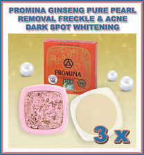 3 x PROMINA GINSENG PURE PEARL FACE CREAM REMOVAL FRECKLE + ACNE DARK SPOT WHITE