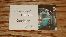 Original 1959 AMC American Motors Rambler Sales Brochure 59