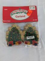 "Santa's Workbench Miniature Garland 2"" Paper Christmas Tree"