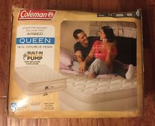Coleman Queen 19 Inch Double High Pillow Top Air bed Built In Electric Pump