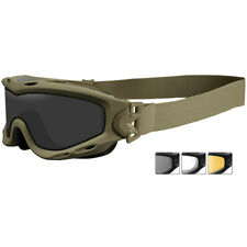 6adb960efa Wiley X Spear Goggles Smoke Grey Clear Light Rust Lenses Matte Tan Frame