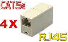 4 Stück Netzwerk Kupplungen Modular Verbindung RJ45 Patch Kabel LAN DSL-
