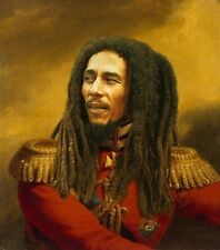 "100% Hand Painted Portrait Oil Painting on Canvas/The general ""Bob Marley"""