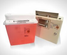 Set of 2 Wall Mount Locking Cabinet WITH 5 Qt sharps container