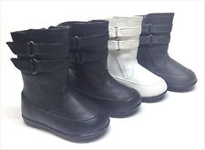 Brand New Infant/Toddler Girl's Double Strap Fashion Boots Size 4 - 8