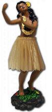 Hawaiian Dashboard Hula Girl Doll Dance Pose Aloha Natural Color Skirt Island NB