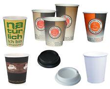 1000 Coffee to go Becher 0,1 0,2 0,3 0,4 optional mit Deckeln + klimaneutral bio