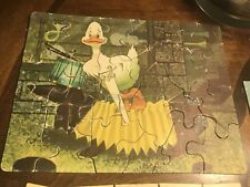 Antique Rare Childrens Puzzle , Duck & Dachshund Art By Bill Layne